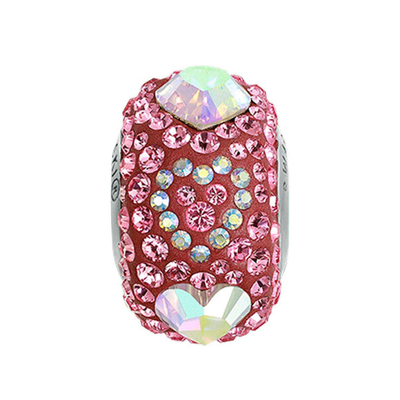 5202688 - BECHARMED  CRYSTAL AB / LIGHT ROSE / PEARL RASPBERRY SWAROVSKI - METAL RODINADO