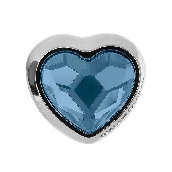 5226666 - BECHARMED METAL HEART CRYSTAL DENIM BLUE SWAROVSKI - METAL RODINADO