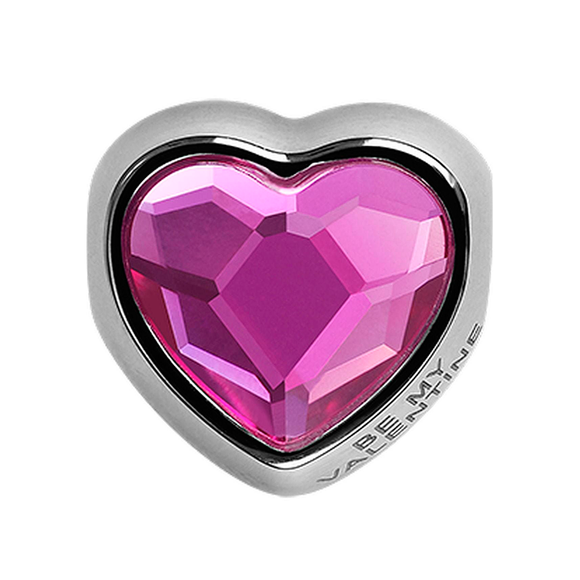 5266475 - BECHARMED METAL HEART CRYSTAL FUCHSIA SWAROVSKI - METAL RODINADO