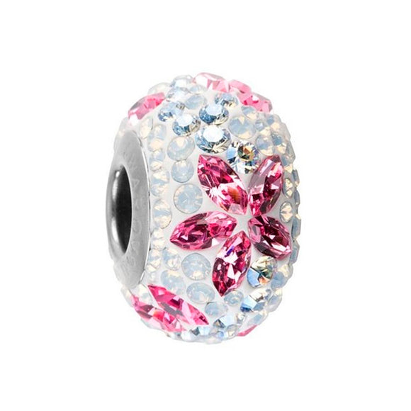5272121 - BECHARMED CRYSTAL LIGHT ROSE / CRYSTAL MOONLIGHT / WHITE OPAL / WHITE SWAROVSKI - METAL RODINADO