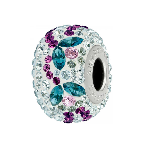 5348741 - BECHARMED CRYSTAL INDICOLITE / LIGHT AMETHYST / BLACK DIAMOND / WHITE SWAROVSKI - METAL RODINADO