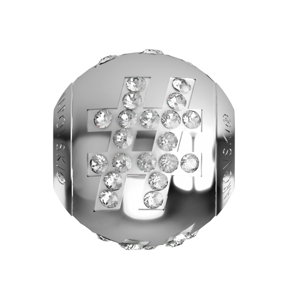 5419088 - BECHARMED LETTER METAL BEAD # SWAROVSKI