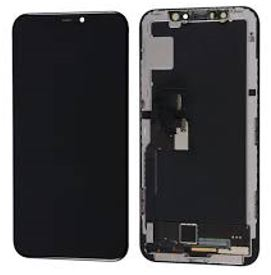 OLED iPhone X LCD glass with Digitizer and Frame Replacement - Black (Enhanced)