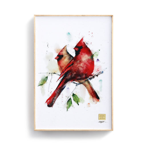 CARDINAL PAIR WALL ART - 12X8