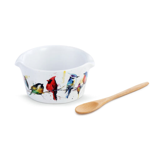 LITTLE BIRDS APPETIZER BOWL WITH SPOON