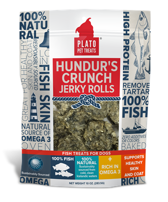 Plato Hundur's Crunch Jerky Rolls Dog Treats