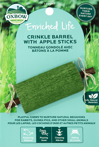 Oxbow Enriched Life - Crinkle Barrel with Apple Sticks
