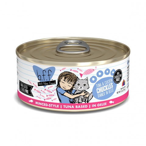 Weruva BFF Tuna and Chicken Chuckles in Gelee Canned Cat Food