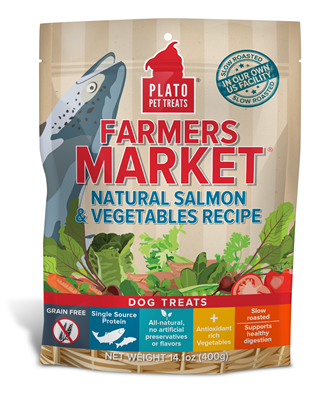 Plato Farmers Market Real Strips Salmon & Vegetables Dog Treats