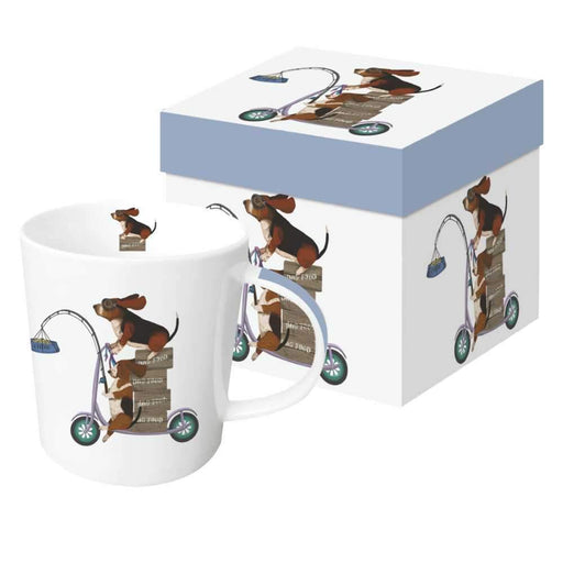Scooter Dogs: Bassett Hounds Gift-Boxed Mug