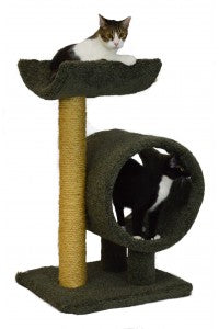 Molly and Friends Loft and Round Two-tier Scratching Post Cat Furniture