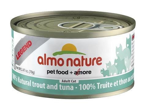 Almo Nature Trout and Tuna Canned Cat Food