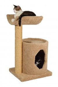 Molly and Friends Cradle Condo Two-tier Scratching Post Cat Furniture