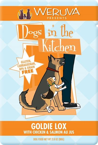 Weruva Dogs in the Kitchen Goldie Lox Grain Free Chicken and Salmon Dog Food Pouch