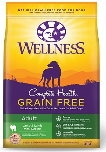 Wellness Grain-Free Complete Health Adult Lamb & Lamb Meal Recipe Dry Dog Food
