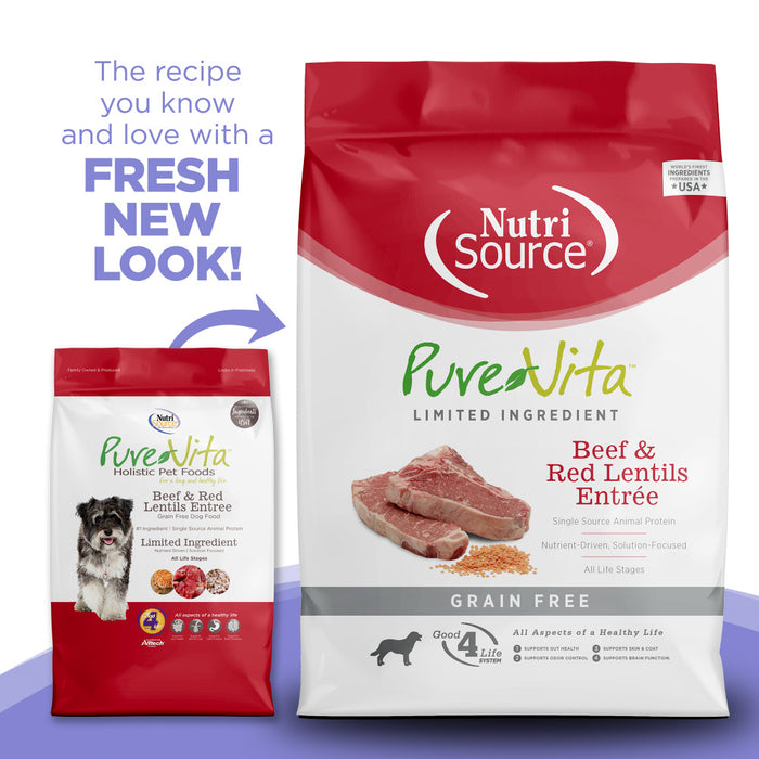 PureVita Grain Free Beef & Red Lentils Dry Dog Food