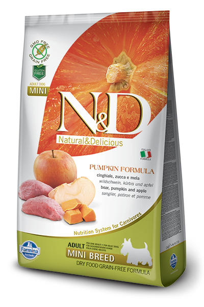 Farmina N&D Pumpkin Grain-Free Boar & Apple Mini Breed Adult Dog Food