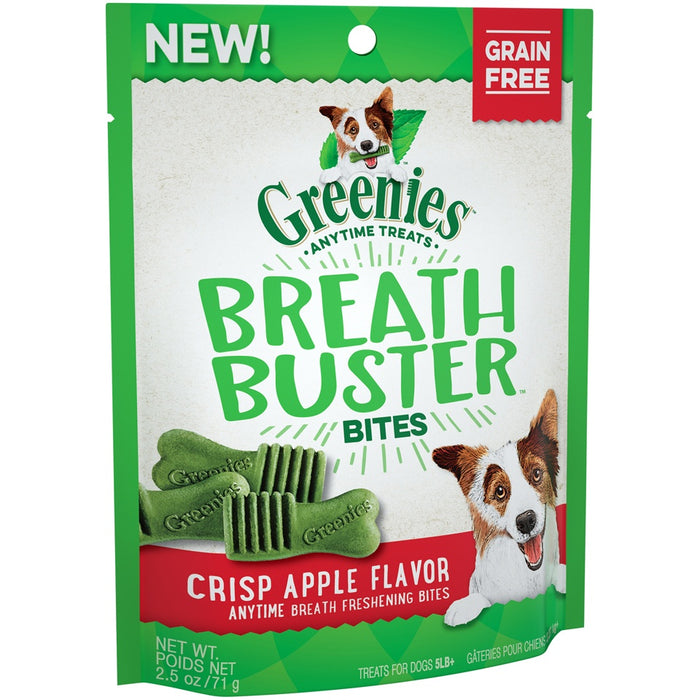 Greenies Grain Free Breath Buster Bites Crisp Apple Dog Treats