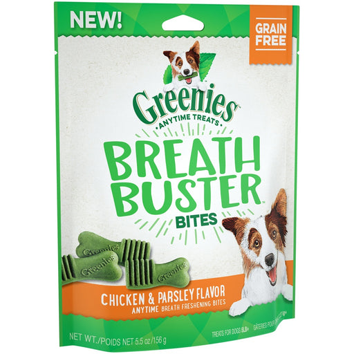 Greenies Grain Free Breath Buster Bites Chicken and Parsley Dog Treats