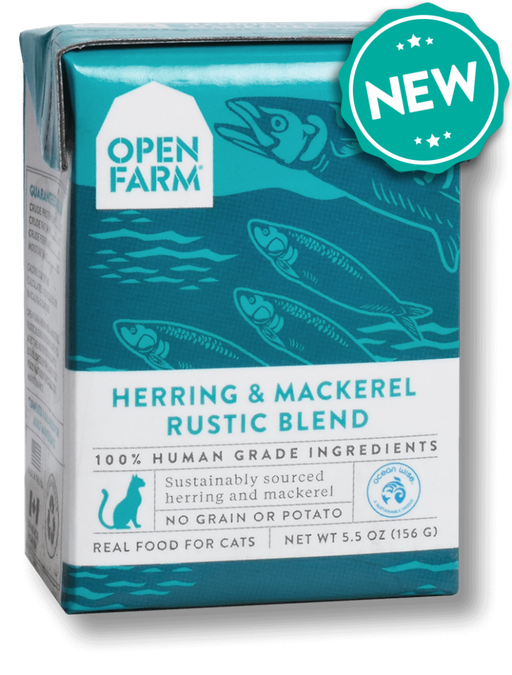 Open Farm Grain Free Herring & Mackerel Recipe Rustic Blend Wet Cat Food