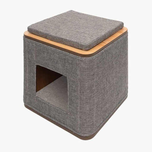 Vesper Cubo Cat Furniture - Stone