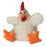 GoDog Checkers Fat White Rooster Dog Toy