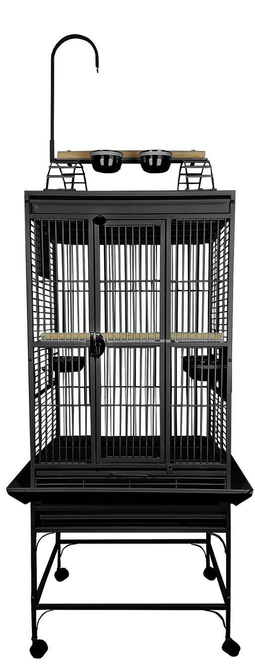 "A&E Cage Company PlayTop Cage 24""x22""x62"" Black"