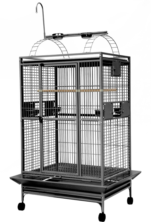 "A&E CAGE COMPANY 36"" x 28"" x 66"" Play Top Cage - Platinum"