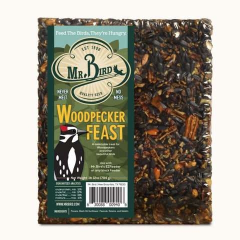 Mr. Bird Woodpecker Feast Seed Block