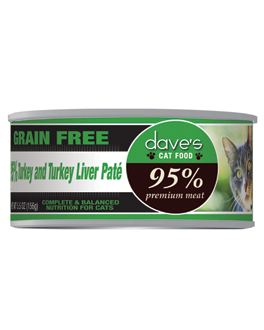 Dave's 95%™ Premium Meat Cat Food – Turkey & Turkey Liver Pate