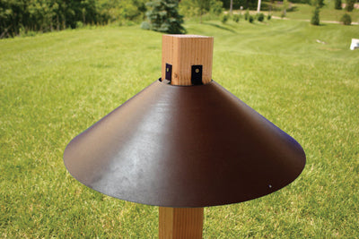 "22"" Bronze Color Wrap Around 4x4 Post Mount Baffle"