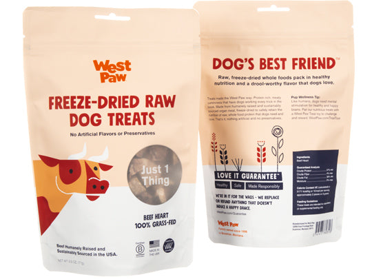 West Paw Beef Heart Single Ingredient Dog Treat