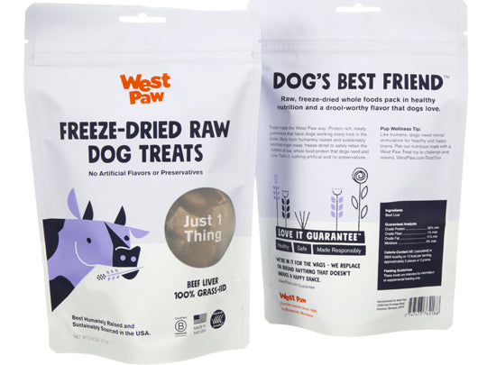 West Paw Beef Liver Single Ingredient Dog Treat