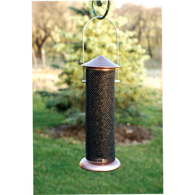 Brushed Copper Mini Nyjer Screen Feeder