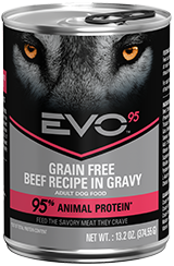 EVO™ 95 Beef Recipe in Gravy Canned Dog Food