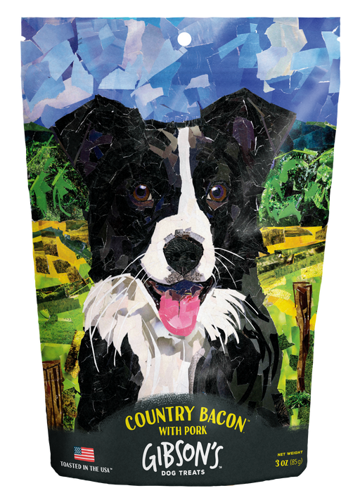 Wild Meadow Farms Gibson's Country Bacon with Pork Jerky Dog Treats - 3oz.