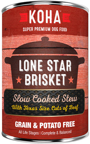 KOHA Lone Star Brisket Slow Cooked Stew Dog Food