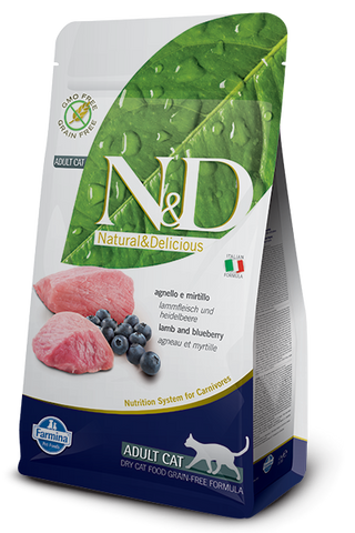 Farmina N&D Grain-Free Lamb & Blueberry Adult Cat Food