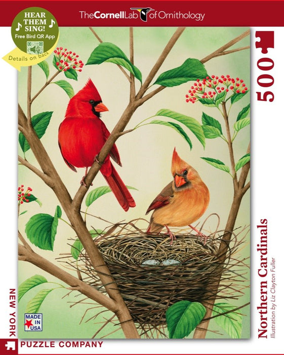 NEW YORK PUZZLE COMPANY NORTHERN CARDINALS