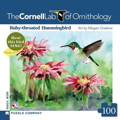 NEW YORK PUZZLE COMPANY RUBY-THROATED HUMMINGBRID MINI