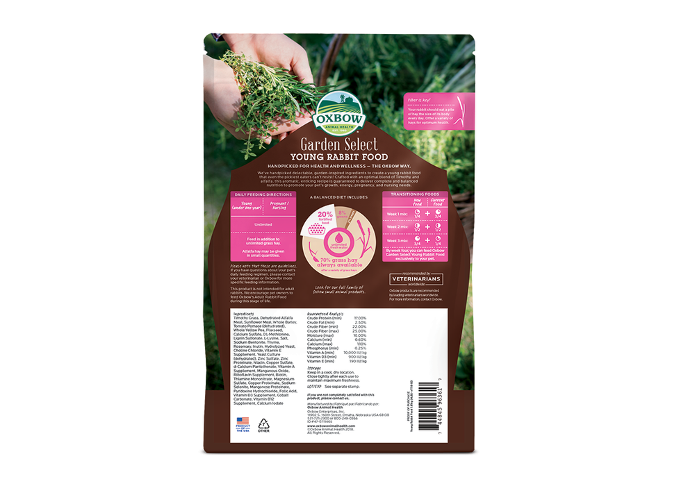 Oxbow Garden Select Young Rabbit Food