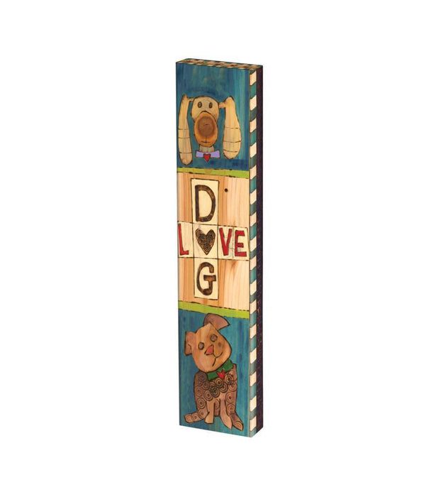 "LESSONS FROM MY DOG 13"" MINI ART POLE"