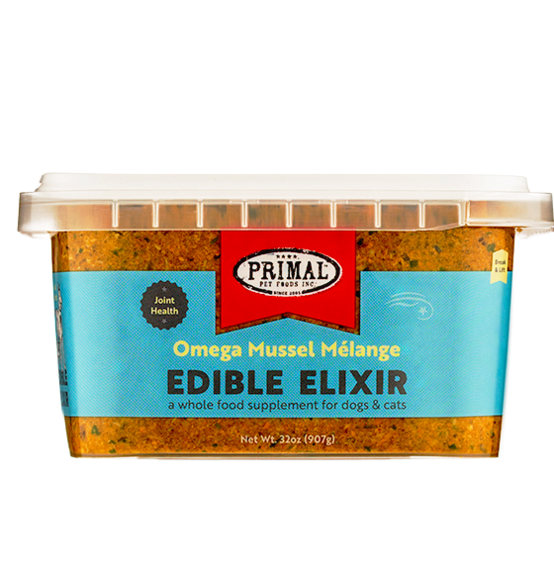 PRIMAL PET FOODS EDIBLE ELIXIR JOINT HEALTH: OMEGA MUSSEL MÉLANGE