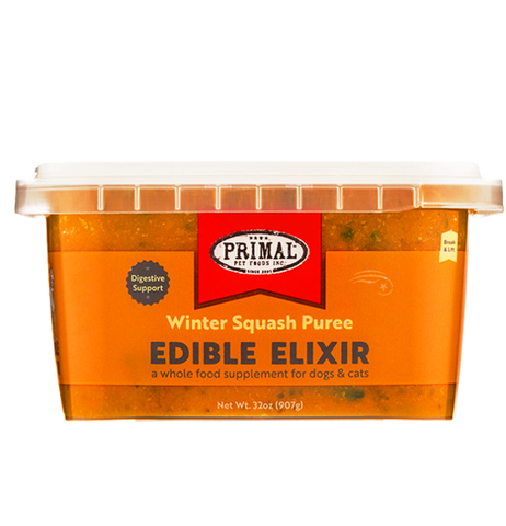 PRIMAL PET FOODS EDIBLE ELIXIR DIGESTIVE SUPPORT: WINTER SQUASH PUREE