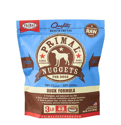 Primal Nuggets Raw Frozen Canine Duck Formula