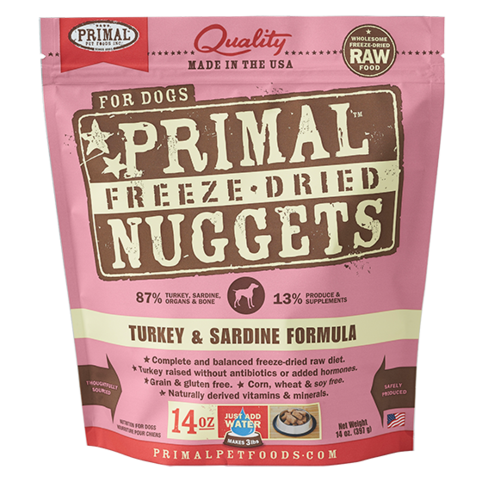Primal Nuggets Canine Turkey & Sardine Freeze-Dried Formula
