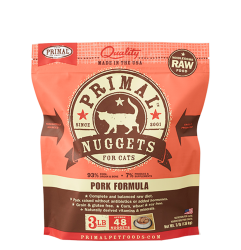 Primal Nuggets Raw Frozen Feline Pork Formula