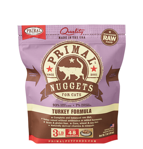 Primal Nuggets Raw Frozen Feline Turkey