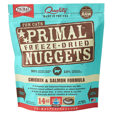 Primal Nuggets Raw Freeze-Dried Feline Chicken & Salmon Formula