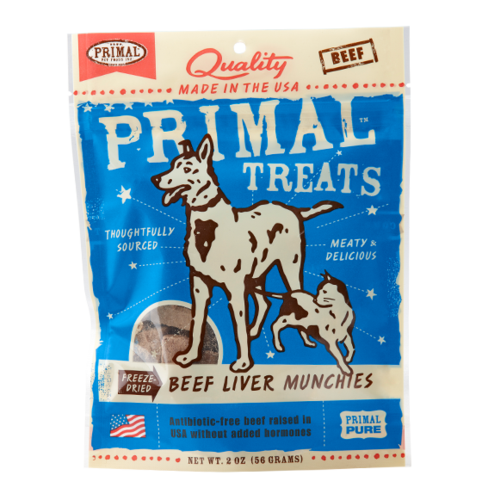 Primal Treats Freeze-Dried Beef Liver Munchies